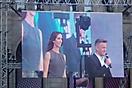 Kathie Bellowisch und Andi Knoll live von der ESC Bühne am Wiener Rathaus